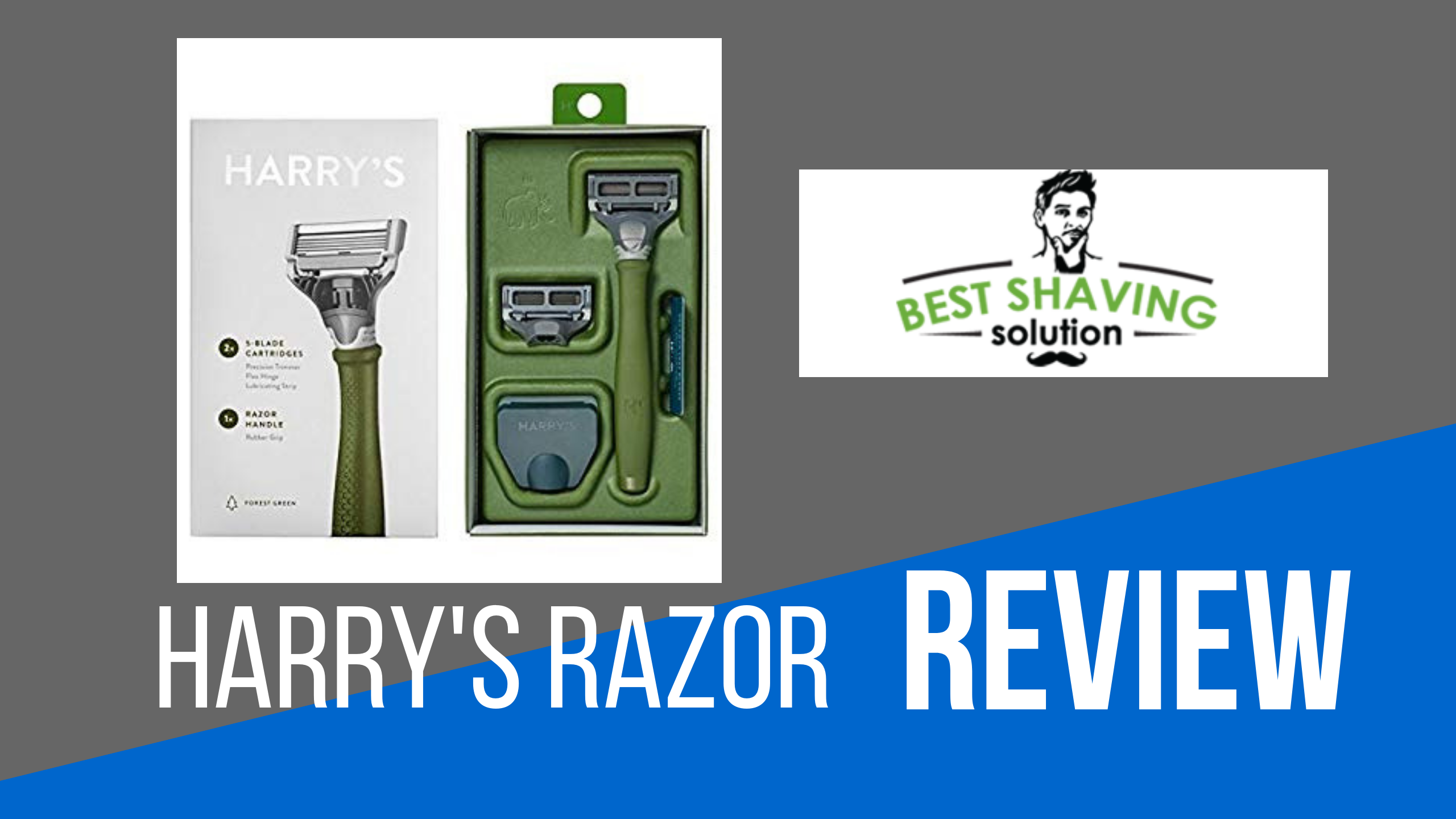 harry's razor review features 2 German-engineered blade cartridges with a flex hinge and lubricating strip