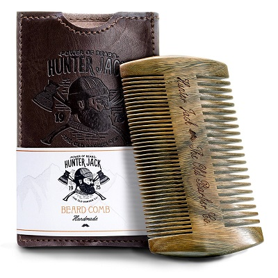 Power of Beard Hunter Jack Handmade Beard Comb