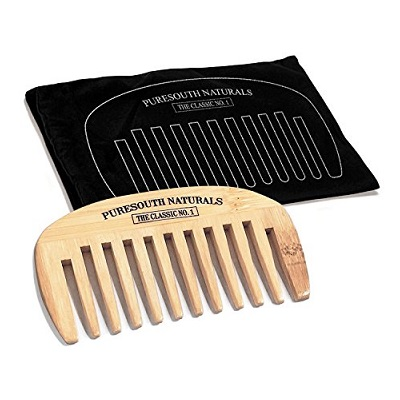 Puresouth Naturals Beard Wide Tooth Bamboo Comb
