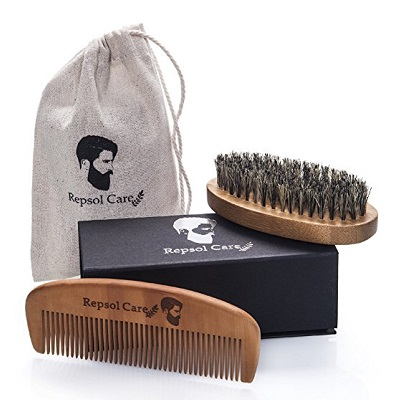 Repsol Care Beard Brush and Beard Comb