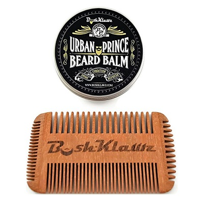 Urban Prince Beard Balm Conditioner and Beard Comb