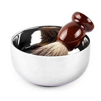 QSHAVE Stainless Steel Shaving Bowl