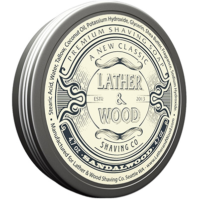 lather and wood shaving soap