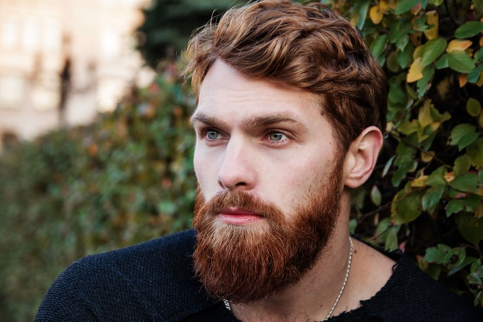 man with groomed beard and mustache