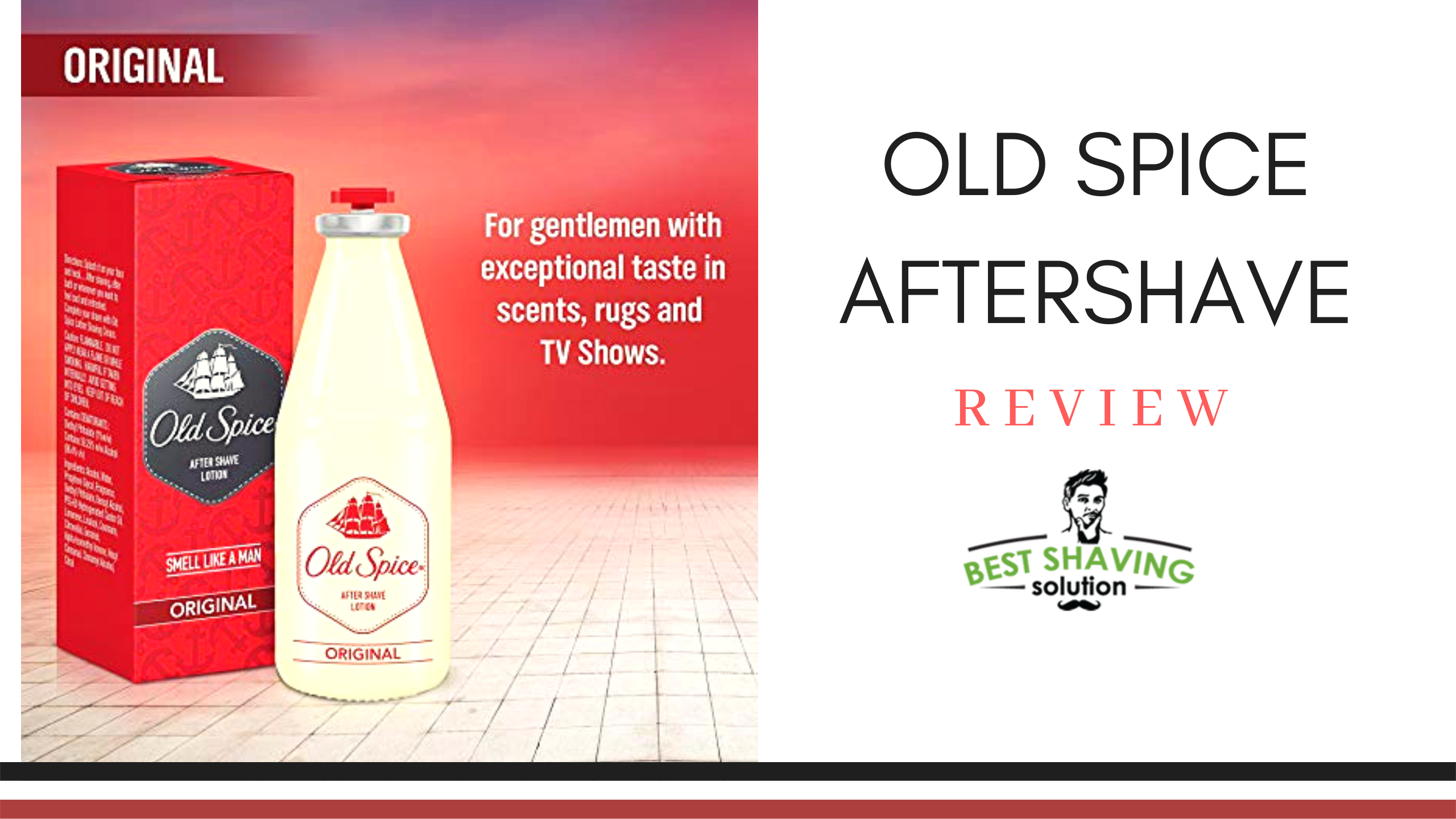 Old Spice aftershave original contains an alcohol content that is reminiscent of mulled wine